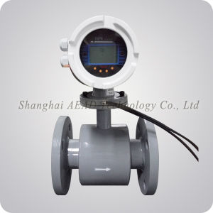 4-20mA Output LCD Display PTFE Lining 316L Electrode Electromagnetic Flow Meter for Measuring Liquid pictures & photos