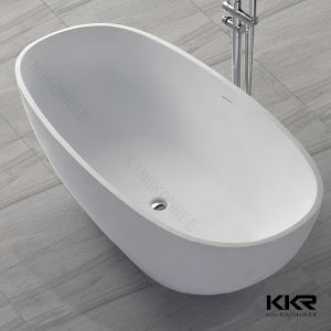 Sanitary Ware Solid Surface Wall Against Bath Tub 170222 pictures & photos