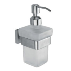 Glass Soap Dispenser with SUS304 Stainless Steel Holder (3307)