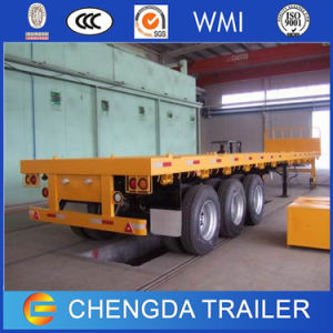 Tractor Available Tri-Axle Container 40ton 40FT Flatbed Semi-Trailer pictures & photos