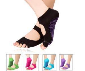 Hot Sale Non Slip Toeless Yoga Socks with Grips
