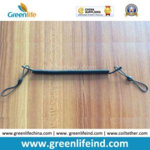 Plastic Black Slim Spring Clip Coil Key Retainer
