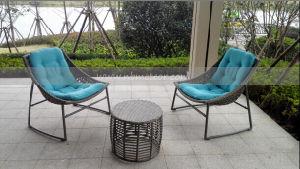 Mtc-190 Outdoor Garden Patio Rattan Tea Table Set pictures & photos
