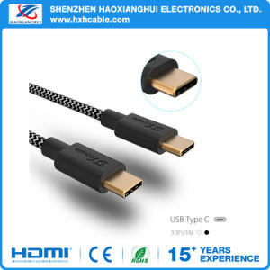 High Speed Gold Plated Type C to a USB Fabrics Braided Cable Data Sync pictures & photos
