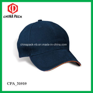 6 Panel Adjustable Sandwich Peak Baseball Cap (CPA_31031) pictures & photos