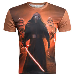 Customize Fashion 3D Photography Printing Mens Tee Shirt pictures & photos