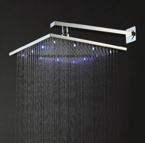 CE Approved 300mm Squre Brass LED Shower Head pictures & photos