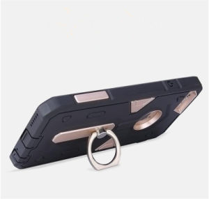 TPU+PC Armor Hybrid Holder Mobile Back Cover with Ring Shell Protector Shockproof Case (XSEH-012) pictures & photos