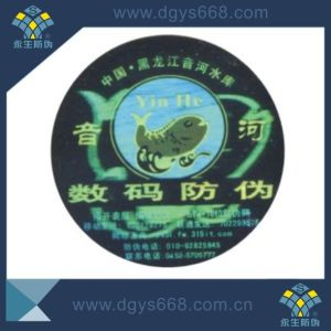 Custom Clear Dynamic Effect Laser Hologram Stickers pictures & photos