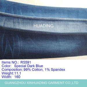 99% Cotton 1% Spandex Wholesale Stock Jeans Denim Fabric (R5591) pictures & photos