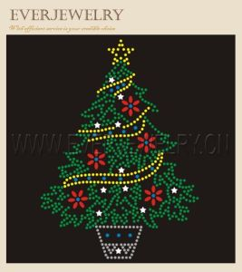 Hot Fix Rhinestone Motif for Christmas pictures & photos