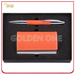 Promotional Click Pen & Card Holder Gift Set pictures & photos