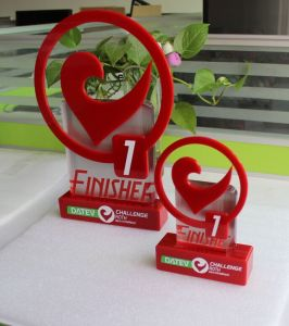 Nice-Looking Beautiful Acrylic Trophy Award, Red Color, Made in China pictures & photos