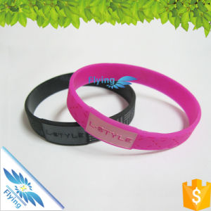 Promotion Custom Silicone Wristbands Debossed Bands Rubber Bracelets for Wholesale