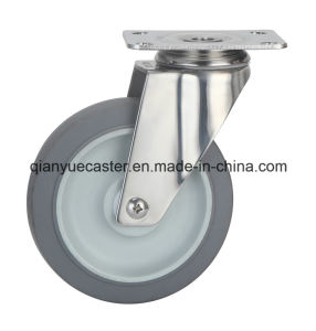Stainless Steel TPR Medium Duty Caster pictures & photos