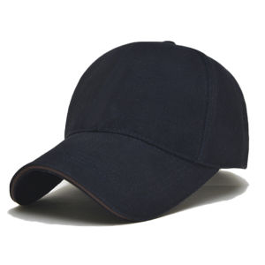 Black Heavy Brushed Cotton Baseball Cap pictures & photos