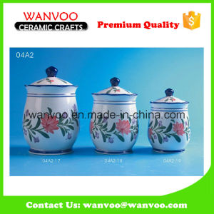 Kitchen Canister Food Storage Container Tea Sugar Coffee Ceramic Jars pictures & photos