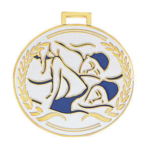 Customized Antique Gold Silver Copper Sport Metal Colorful Swimming Medal pictures & photos
