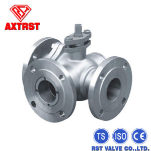 Stainless Steel Flanged 3 Way Ball Valve pictures & photos