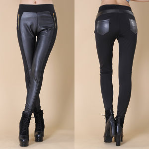 Women Leather Pants Factory pictures & photos