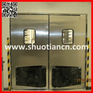 Stainless Steel Traffic Swing Impact Door (ST-006) pictures & photos