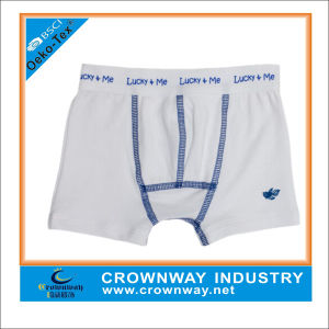 White Clean Soft Simple Boxers for Boys pictures & photos