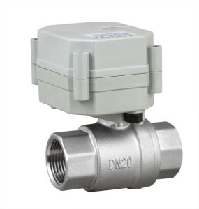 OEM 2 Way NSF Stainless Steel Motorized Water Ball Valve Electric Control Valve (T20-S2-C) pictures & photos