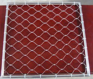 Tec-Sieve Stainless Steel Wire Rope Diamond Ferruled Mesh with Frame pictures & photos