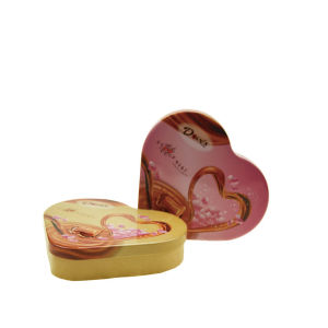 Dove Chocolate Package Tin Container with Heart Shaped for Lovers Tin Contanier pictures & photos