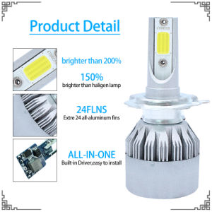 High Quality Car LED Headlight with Chips COB LED Car Light and LED Driving Light (4500lm H4 H7 9005 9006 H13 H1 H3) pictures & photos