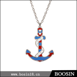 Handmade Custom High Quality Enamel Anchor Necklace pictures & photos