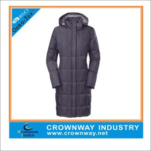 Black Parka Winter Long Jacket for Women pictures & photos