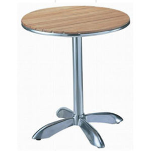 Round Aluminum Wooden Table (DT-06260R2) pictures & photos