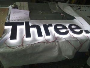 Shop Front Advertising Business Logo Acrylic Epoxy Resin LED Light Bulb Sign Reverse Backlit Halolit Channel Letter pictures & photos