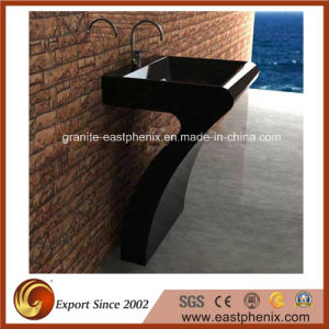 Natural Black Granite Bathroom Sink pictures & photos