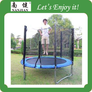 Round Kids Indoor Trampoline Bed with Safrty pictures & photos