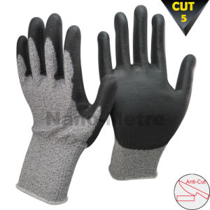 Nmsafety Cut Resistant Hand Protection PU Coated Glove pictures & photos