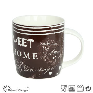 12oz New Bone China Mug with English Words pictures & photos
