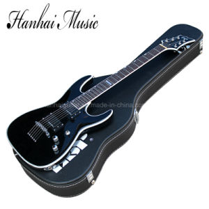 Hanhai Music / Black Electric Guitar with a Hard Case pictures & photos