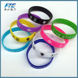 Fashion Rainbow Silicone Wristband for Kids pictures & photos