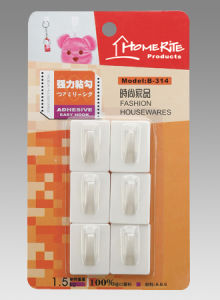 Plastic Adhesvie Hook (HK013) for Household Products