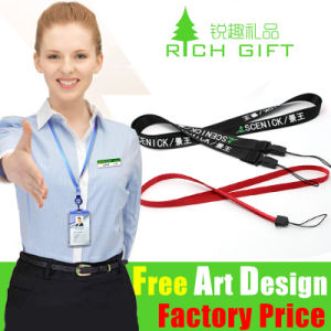 Zinc Alloy Clip Attached Multi-Color Woven Lanyard for Mobile Phone pictures & photos
