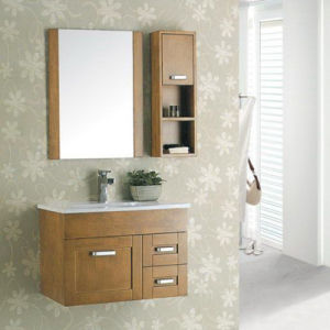 Solid Wooden Bathroom Cabinet (ADS-657) pictures & photos