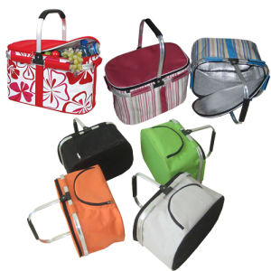 Aluminum 600d Polyester Eco-Friendly Folding Cloth Shopping Basket (SP-315) pictures & photos
