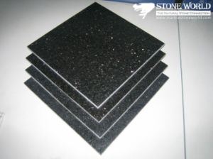 Polished Black Galaxy Granite Tile for Flooring/Wall pictures & photos