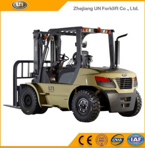 Un 10.0t Diesel Forklift with Original Isuzu Engine with Duplex 5.0m Mast pictures & photos