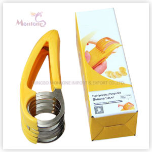 17.3*5.3*3.7cm Kitchen Tools/Gadget Stainless Steel Fruit Banana Slicer pictures & photos