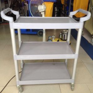 Grey Plastic 3-Layer Service Trolley Catering Trolley (JT-G30) pictures & photos
