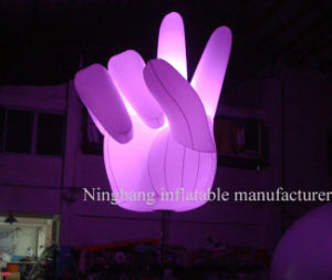 Decoration Lighting Giant Inflatable Hand with LED Light