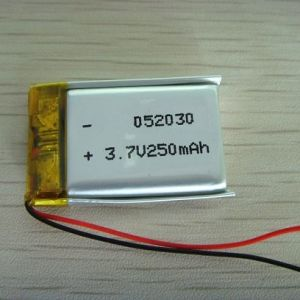 Smart Rechargeable Li-Polymer Battery 250mAh 3.7V 502030